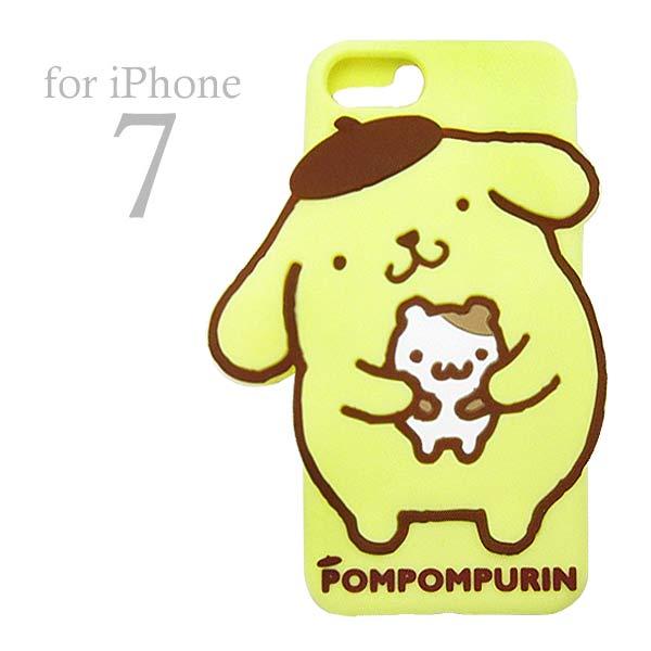 ポムポムプリン シリコンケース アイフォンケース iPhone 7 専用 モバイル用品 新生活 プレゼント