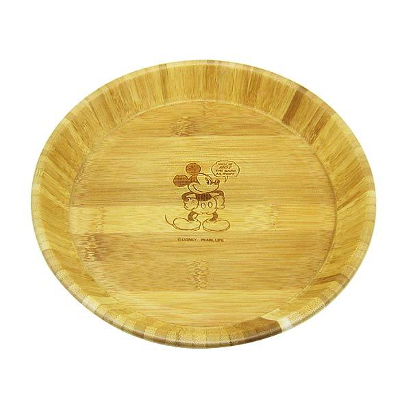 ミッキーマウス キャプテンスタッグ 竹製丸型プレート お皿 深型 ディズニー キッチン用品