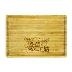 ミッキーマウス キャプテンスタッグ 竹製角型プレート お皿 L ディズニー キッチン用品