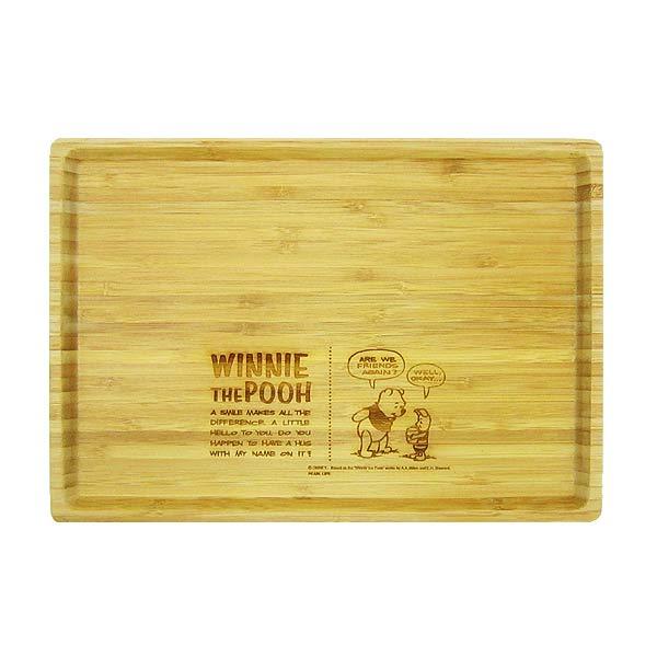 プーさん キャプテンスタッグ 竹製角型プレート お皿 L ディズニー くまのプーさん キッチン用品 新生活 プレゼント