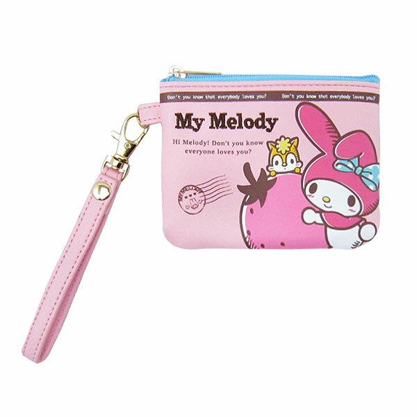マイメロディ 小銭入れ付 パスケース 定期入れ ピンク 入園入学 新生活 プレゼント
