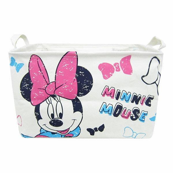 10%オフ全商品やってます ~4/22 ミニーマウス キャンバスストレージ 収納ボックス 収納ケース L ディズニー インテリア用品 新生活 プレゼント