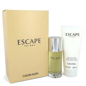 【送料無料】ESCAPE Calvin Klein Gift Set 3.4 oz EDT Spray + 6.7 oz After Shave Balm / [M]【楽天海外直送】