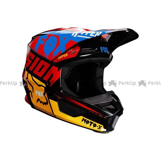 【エントリーでポイント10倍】送料無料 FOX フォックス オフロードヘルメット V1 ツァール ヘルメット(ブラック/イエロー) XL/61-62cm