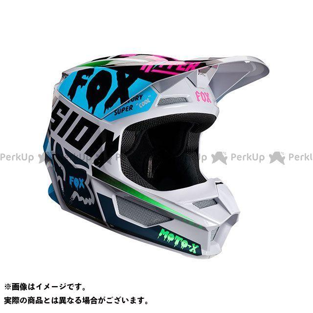 【エントリーでポイント10倍】送料無料 FOX フォックス オフロードヘルメット V1 ユース ヘルメット ツァール(ライトグレー) YL/51-52cm