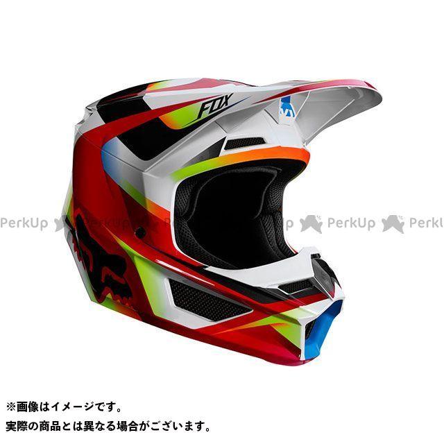 【エントリーでポイント10倍】送料無料 FOX フォックス オフロードヘルメット V1 ユース ヘルメット モティーフ(レッド/ホワイト) YL/51-52cm