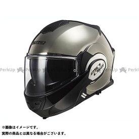 【無料雑誌付き】LS2 HELMETS システムヘルメット(フリップアップ) VALIANT(クローム) サイズ:M エルエスツーヘルメット