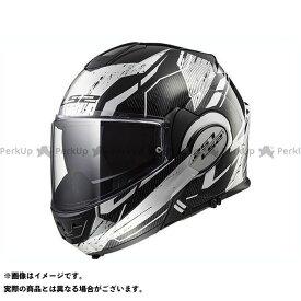 【無料雑誌付き】LS2 HELMETS システムヘルメット(フリップアップ) VALIANT(ブラック/ホワイト/クローム) サイズ:L エルエスツーヘルメット