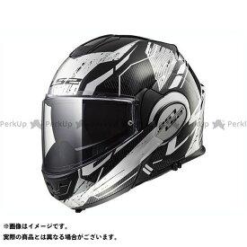 【ポイント最大19倍】LS2 HELMETS システムヘルメット(フリップアップ) VALIANT(ブラック/ホワイト/クローム) サイズ:XL エルエスツーヘルメット