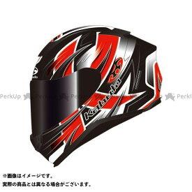 オージーケーカブト フルフェイスヘルメット AEROBLADE-5 HURRICANE(エアロブレード・5 ハリケーン) フラットブラック/レッド L/59-60cm 送料無料 OGK KABUTO