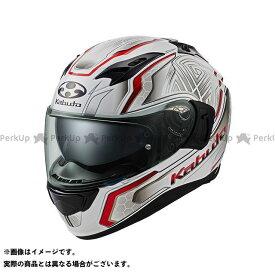 オージーケーカブト フルフェイスヘルメット KAMUI-III CIRCLE(カムイ・3 サークル) パールホワイト/レッド L 送料無料 OGK KABUTO