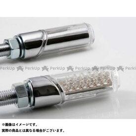 STARTECH 汎用 ウインカー関連パーツ 汎用LED円柱形ミニランプ クリアー メッキ スターテック