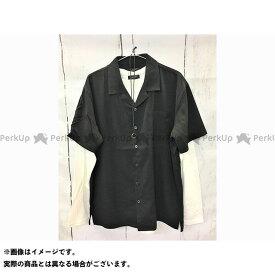 【エントリーで最大P21倍】CONTRIBE カジュアルウェア ポリトロオープンシャツ&ロングT&ネックレス【3点セットアンサンブル】(01ブラックA) サイズ:M コントライブ