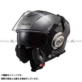 【無料雑誌付き】LS2 HELMETS システムヘルメット(フリップアップ) VALIANT(チタニウム) サイズ:XL エルエスツーヘルメット