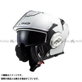 【無料雑誌付き】LS2 HELMETS システムヘルメット(フリップアップ) VALIANT(ホワイト) サイズ:XL エルエスツーヘルメット
