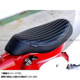 KEPSPEED スーパーカブ50 シート関連パーツ スーパーカブ用 カスタムシート タイプTU ホワイトライン 縦タイプ(ブラック) ケップスピード