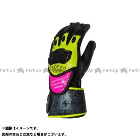 【無料雑誌付き】MERCURY PRODUCTS レーシンググローブ レーシンググローブ(イエロー/ピンク) サイズ:L WIDE マーキュリープロダクツ