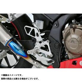 OVER RACING CBR400R バックステップ関連パーツ CBR400R (16-) バックステップキット(シルバー) オーバーレーシング