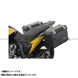【無料雑誌付き】SW-MOTECH XL700Vトランザルプ キャリア・サポート QUICK-LOCK(クイックロック)EVO サイドキャリア ブラック(アダプターキットなし) SWモテック