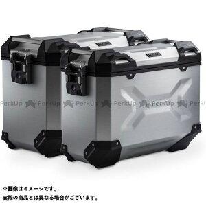 【雑誌付き】SW-MOTECH F650GS F700GS F800GS ツーリング用ボックス TRAX ADV アルミ ケースシステム-シルバー-37/45 l. BMW F 800/700/650 GS(08-).|KFT.07.559.7 SWモ…