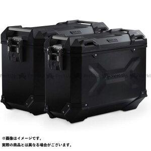 【雑誌付き】SW-MOTECH ツーリング用ボックス TRAX ADV アルミ ケースシステム -ブラック- 45/37 l. BMW R 1200 GS LC/Adv(13-)、Ral.|KFT.07.66 SWモテック