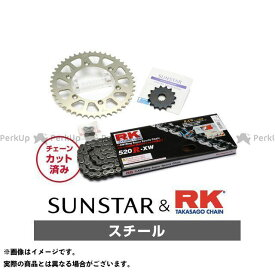 【エントリーで最大P21倍】【特価品】SUNSTAR KLX250 スプロケット関連パーツ KR31401 スプロケット&チェーンキット(スチール) サンスター