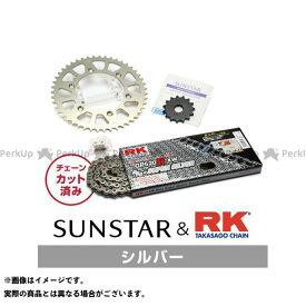 【エントリーで最大P21倍】【特価品】SUNSTAR KLX250 スプロケット関連パーツ KR31402 スプロケット&チェーンキット(シルバー) サンスター