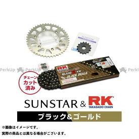 【エントリーで最大P21倍】【特価品】SUNSTAR KLX250 スプロケット関連パーツ KR31404 スプロケット&チェーンキット(ブラック) サンスター