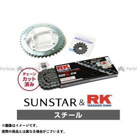 【エントリーで最大P21倍】【特価品】SUNSTAR KLX250 スプロケット関連パーツ KR31405 スプロケット&チェーンキット(スチール) サンスター
