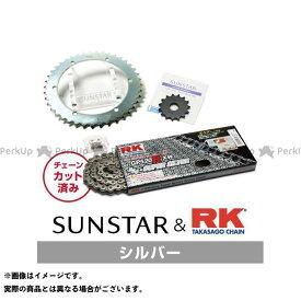【エントリーで最大P21倍】【特価品】SUNSTAR KLX250 スプロケット関連パーツ KR31406 スプロケット&チェーンキット(シルバー) サンスター