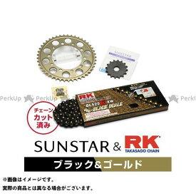 【エントリーで最大P19倍】SUNSTAR ZRX400 ZRX400- スプロケット関連パーツ KR40604 スプロケット&チェーンキット(ブラック) サンスター