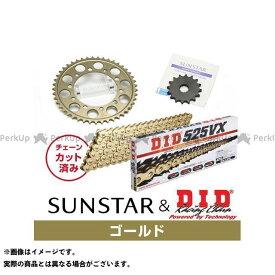 【雑誌付き】SUNSTAR ZRX400 ZRX400- スプロケット関連パーツ KD40403 スプロケット&チェーンキット(ゴールド) サンスター