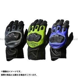 【雑誌付き】MERCURY PRODUCTS レーシンググローブ パンチレザーショートレーシンググローブ(ブラック/ブルー) サイズ:L マーキュリープロダクツ
