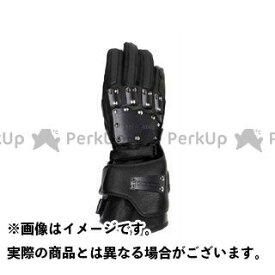 送料無料 KADOYA カドヤ レザーグローブ SHINYA REPLICA No.3516 HAMMER GLOVE-GAUNTLET ブラック×ブラック M