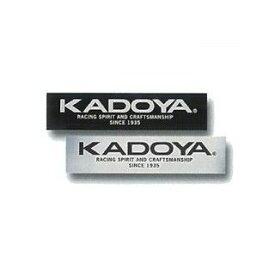 KADOYA カドヤ ステッカー KADOYA STICKER シルバー×ブラック 中/200mm×48mm