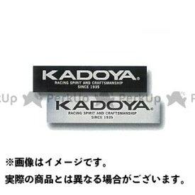 KADOYA カドヤ ステッカー KADOYA STICKER シルバー×ブラック 小/80mm×20mm