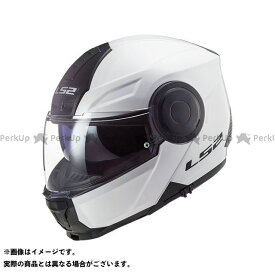 【無料雑誌付き】LS2 HELMETS システムヘルメット(フリップアップ) SCOPE/スコープ(ホワイト) サイズ:XL エルエスツーヘルメット