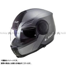 【無料雑誌付き】LS2 HELMETS システムヘルメット(フリップアップ) SCOPE/スコープ(マットチタニウム) サイズ:XXL エルエスツーヘルメット