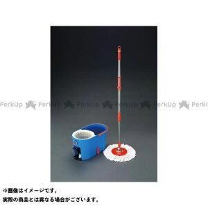 【雑誌付き】ESCO 作業場工具 マイクロファイバー回転モップ(洗浄バケツ付) エスコ