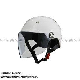 LEAD工業 ハーフヘルメット SERIO RE-40 開閉シールド付きハーフヘルメット ホワイト リード工業