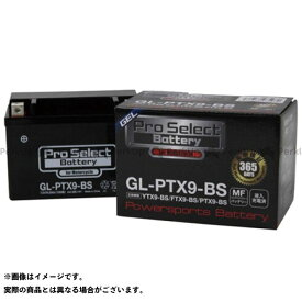 Pro Select Battery 汎用 バッテリー関連パーツ プロセレクトバッテリー GL-PTX9-BS(YTX9-BS 互換)(液入)