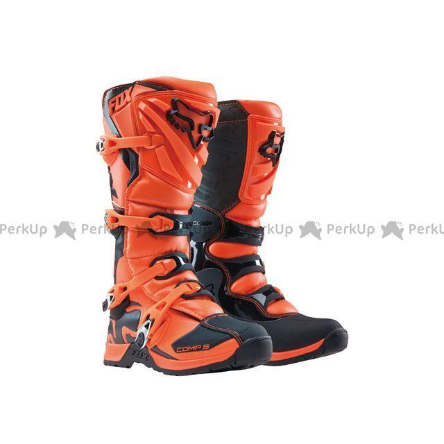 【エントリーでポイント10倍】送料無料 FOX フォックス オフロードブーツ ユース コンプ5 ブーツ オレンジ Y7/24.5cm