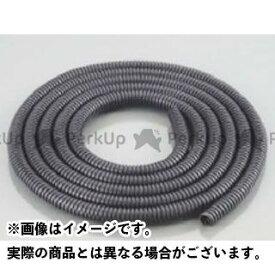 キタココンビニパーツ 汎用 電装スイッチ・ケーブル コルゲートチューブ カラー:ブラック サイズ:内径φ7×2m K-CON