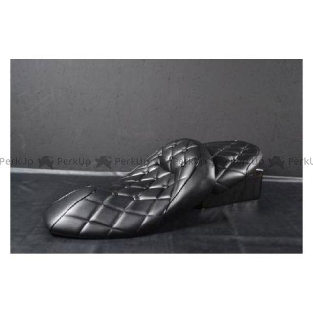 【エントリーでポイント10倍】 グロウワン マジェスティ シート関連パーツ T-388 NEWマジェ用 ローダウンラグジーシート ダイヤカット(つや消し黒×黒パイ) ボタン付