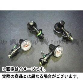 MADSTAR GS400 ウインカー関連パーツ GS400用 ミニウィンカー4個セット ボディ&ステー色:ブラック レンズ色:クリア マッドスター