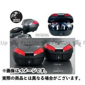 【無料雑誌付き】HEPCO&BECKER ツーリング用ボックス JOURNEY トップケース TC52 カラー:ブラック/シルバー ヘプコ&ベッカー