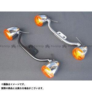 【無料雑誌付き】Tramp Cycle その他のスポーツスター 電装ステー・カバー類 HD Bow Style Turn Signal Bracket カラー:Silver 年式:04〜15年用 トランプ