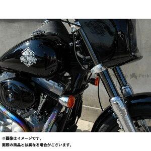 【無料雑誌付き】Tramp Cycle ダイナファミリー汎用 電装ステー・カバー類 HDターンシグナルブラケット DYNA 06〜15年用 カラー:Silver トランプ