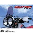 ラフアンドロード 汎用 スクリーン関連パーツ RALLY790 マルチスクリーン(スモーク) ワイドストレート ラフ&ロード