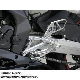 OVER RACING CBR250RR バックステップ関連パーツ バックステップ 4ポジション カラー:シルバー オーバーレーシング